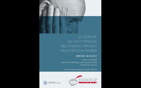 24 marzo 2017: La gestione dell'incontinenza nell'anziano fragile e nella persona disabile
