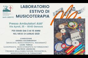 Laboratorio estivo di musicoterapia